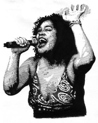 Kylie Auldist, soul singer, the Bamboos, Melbourne, 2000s